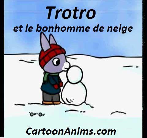 Trotro et le bonhomme de neige l 39 ane trotro dessins anim s pr scolaire no l th me hiver - Trotro et noel ...