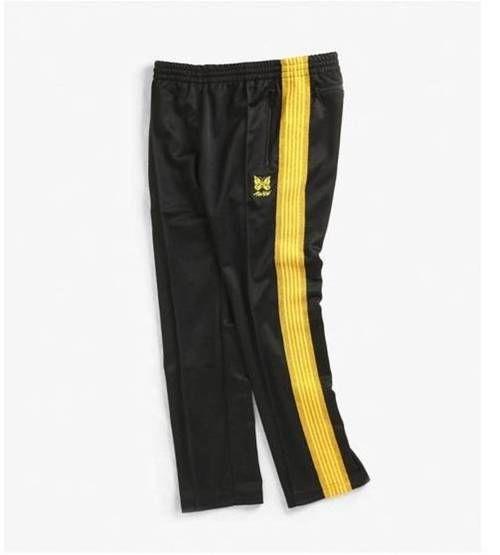 aced365e AWGE X Needles Narrow Track Pants - Black/Gold | CopVsDrop Online ...