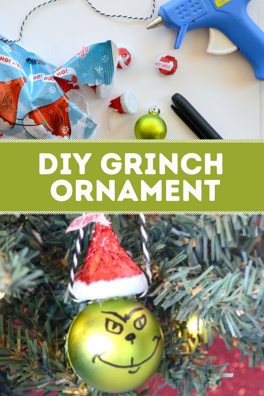Diy Candy Grinch Ornament Craft Grinch Ornaments Ornament Crafts Crafts
