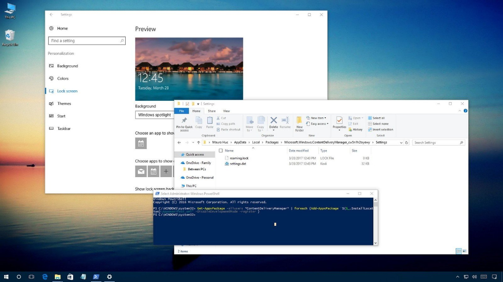 Can T Change Lock Screen Image In Windows 10 Microsoft Community