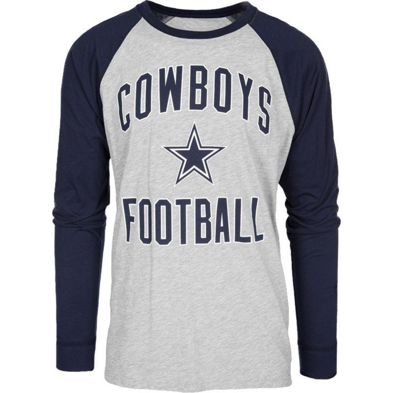 hot sales eb71d 5c5d4 Dallas Merchandising Men's Byron Grey Raglan Long Sleeve ...