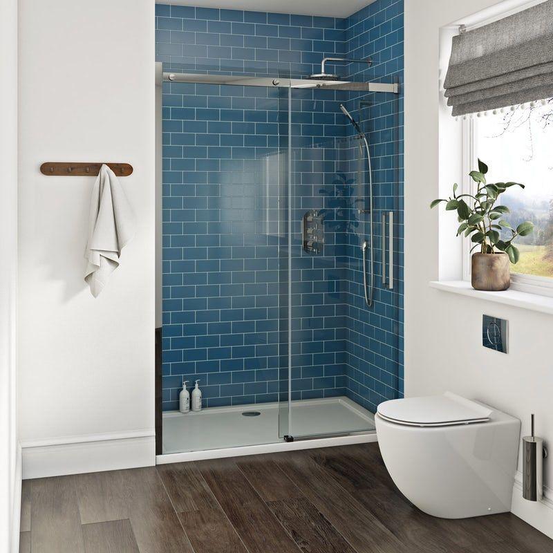 V6 Frosted Glass Sliding Shower Door 1200 Now 99 99 Less Than Half Price Shower Doors Frosted Shower Doors Shower Door Designs
