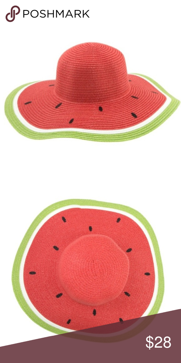 Watermelon Sun Hat ✓ Brand new. ✓ Limited quantity. ✓ Fashion floppy sun hat.  ✓ Made of paper. ✓ Colors are red 15bb876e9f11