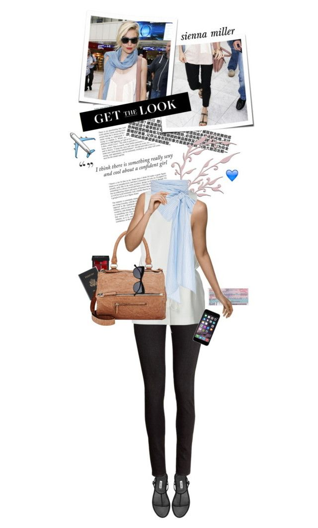 """""""Get the Look: Celebrity Airport Style"""" by cultofsharon ❤ liked on Polyvore featuring moda, H&M, Alexander Wang, MDS Stripes, Royce Leather ve Givenchy"""