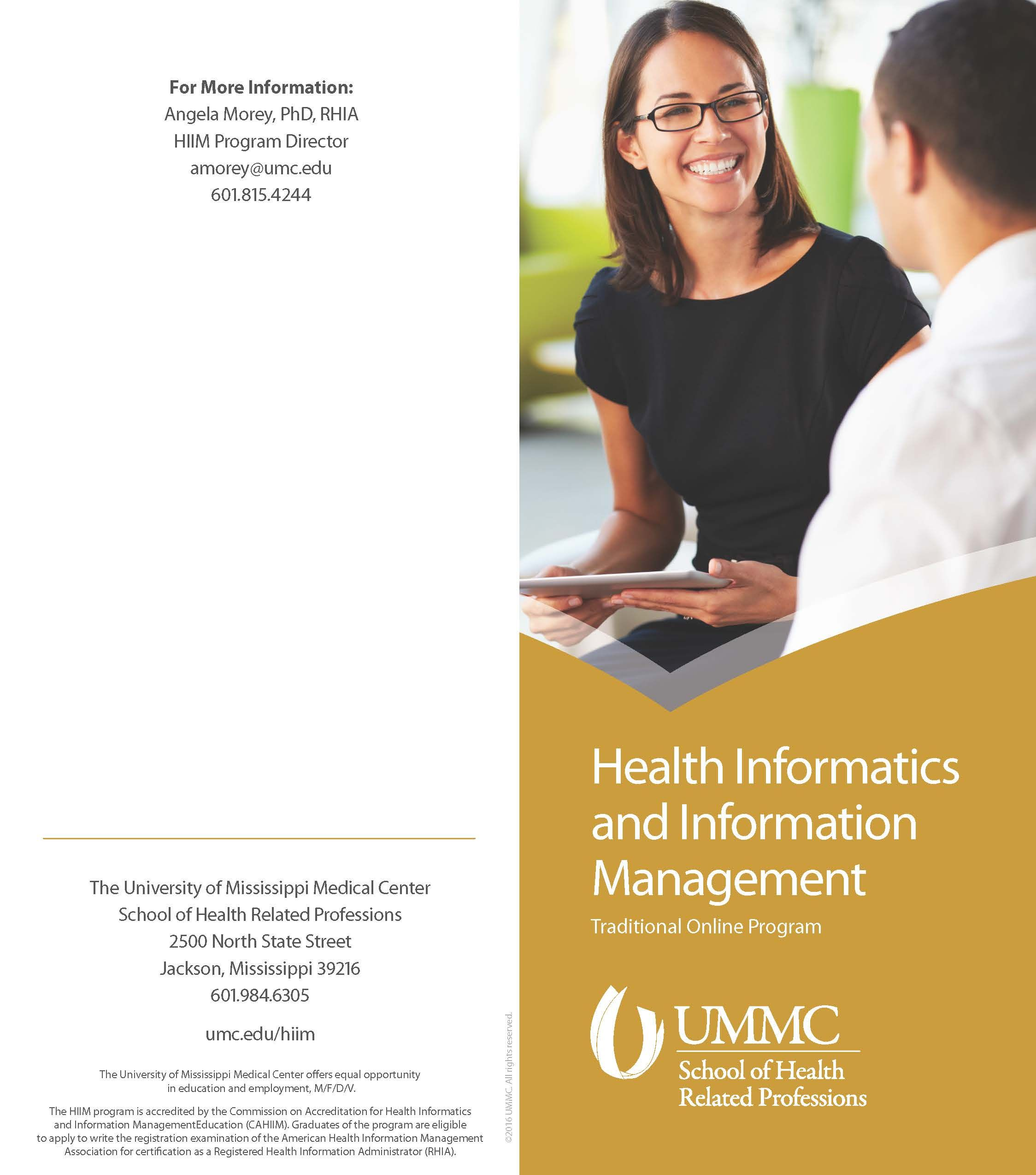 Ummc school of health related professions health informatics and ummc school of health related professions health informatics and information management traditional online program xflitez Choice Image