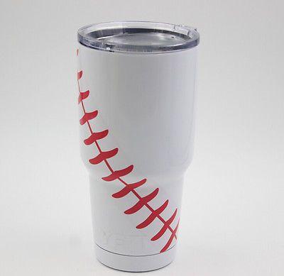 e1e71444846 YETI Tumbler Rambler 30oz Baseball Softball Laces Design Cup Mug ...