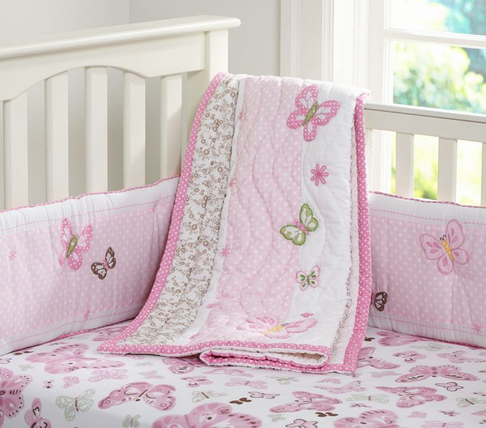 Camille Butterfly Nursery Quilt & Bumper @ Pottery Barn. | Baby ... : pottery barn baby quilt - Adamdwight.com