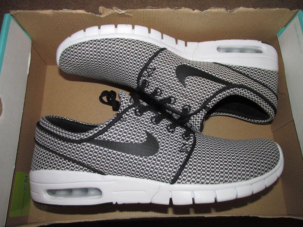 5dd1e246891 Nike SB Stefan Janoski Max Skateboarding Shoes Mens 9 Black White 631303  005  Nike  Skateboarding