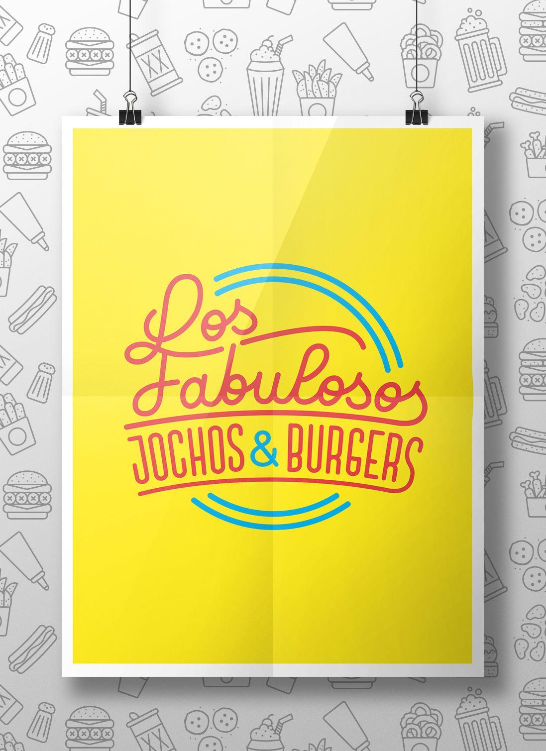 Los Fabulosos, Jochos & Burgers / Branding & Lettering on Behance