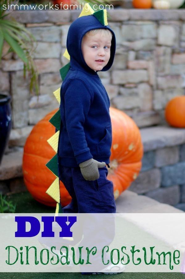 DIY Halloween Costume  DIY Dinosaur Costume DIY Halloween Holiday - super easy halloween costume ideas