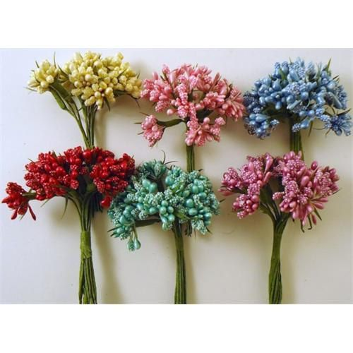 Flowers Mini Berry 72 pcs. by lallehandmade on Etsy