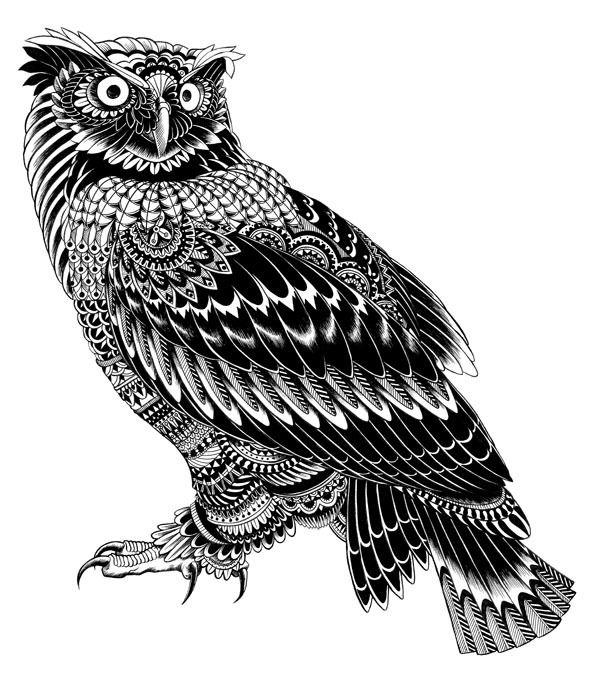 Ornately Decorated Animals by BioWorkZ , via Behance
