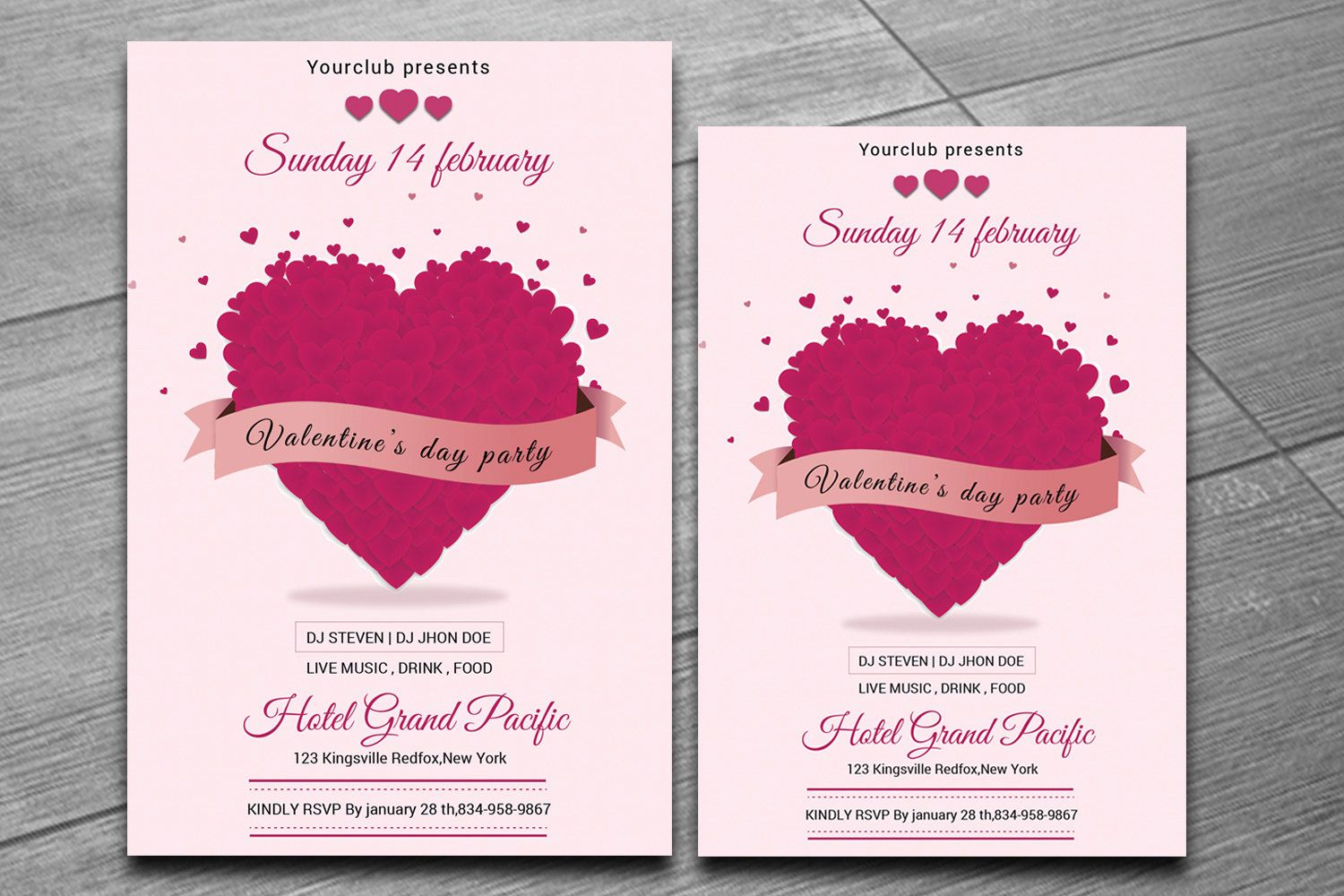 Valentines Day Party invitation Template | Valentines Day Party ...