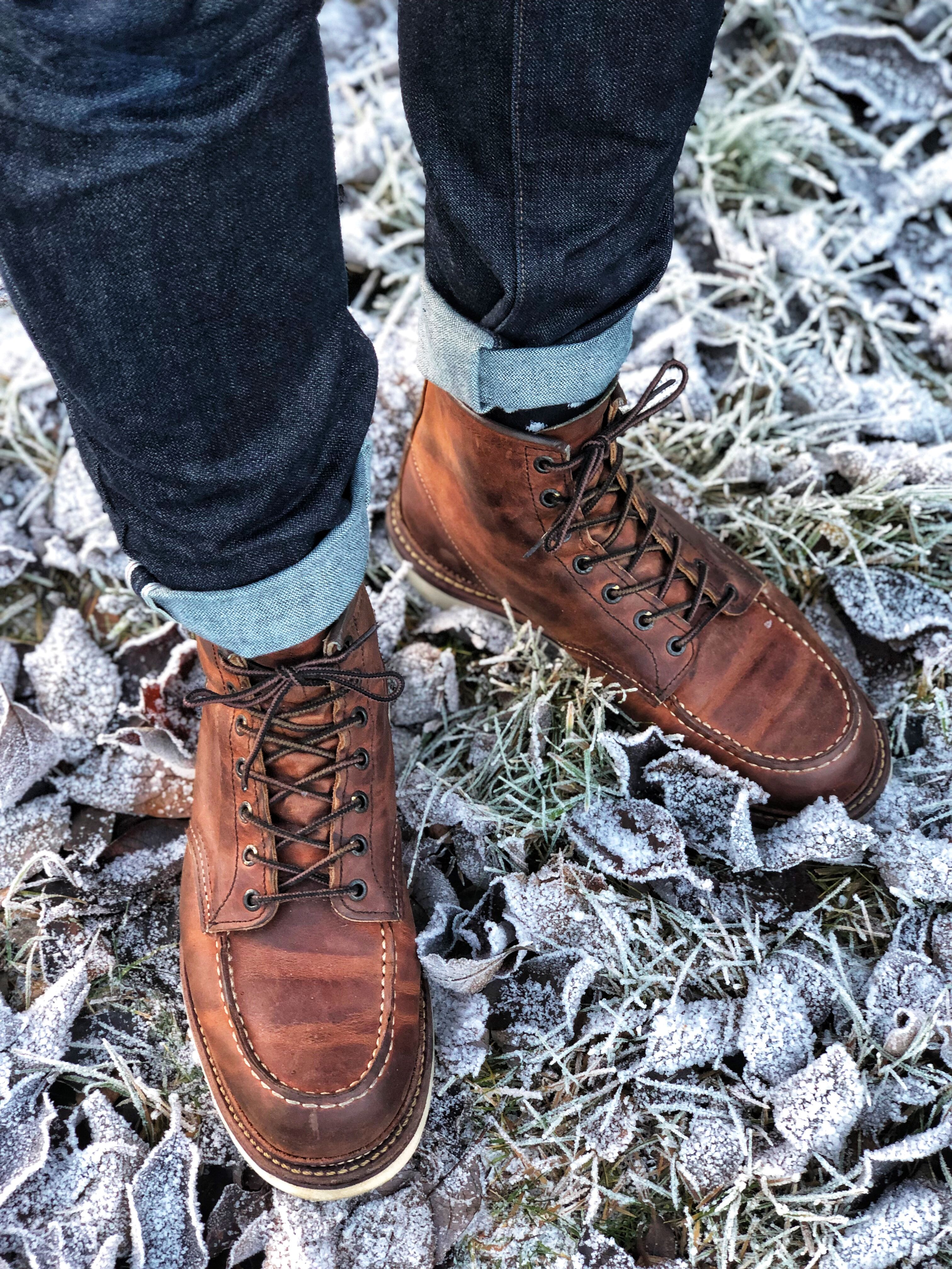 Red Wing Heritage 1907 Classic moc Copper Rough n Tough