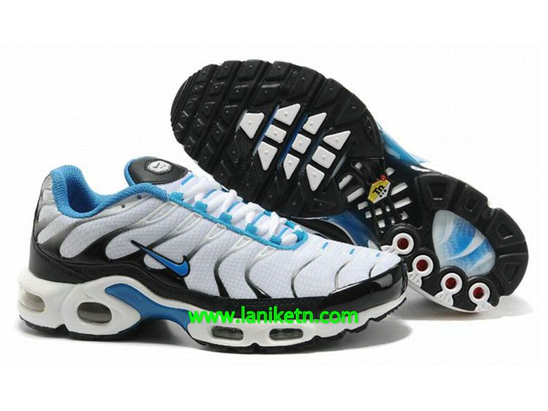 on sale 455c0 ef9b0 Nike Air Max Tn Requie tuned 1 Chaussure De Basket-ball Pour homme Blanc- Noir-Bleu