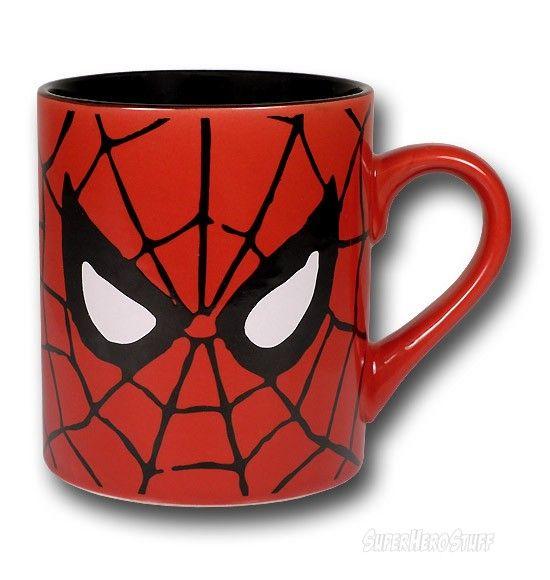 Spiderman Eyes Ceramic Mug Mugs Ceramic Mug Marvel Coloring