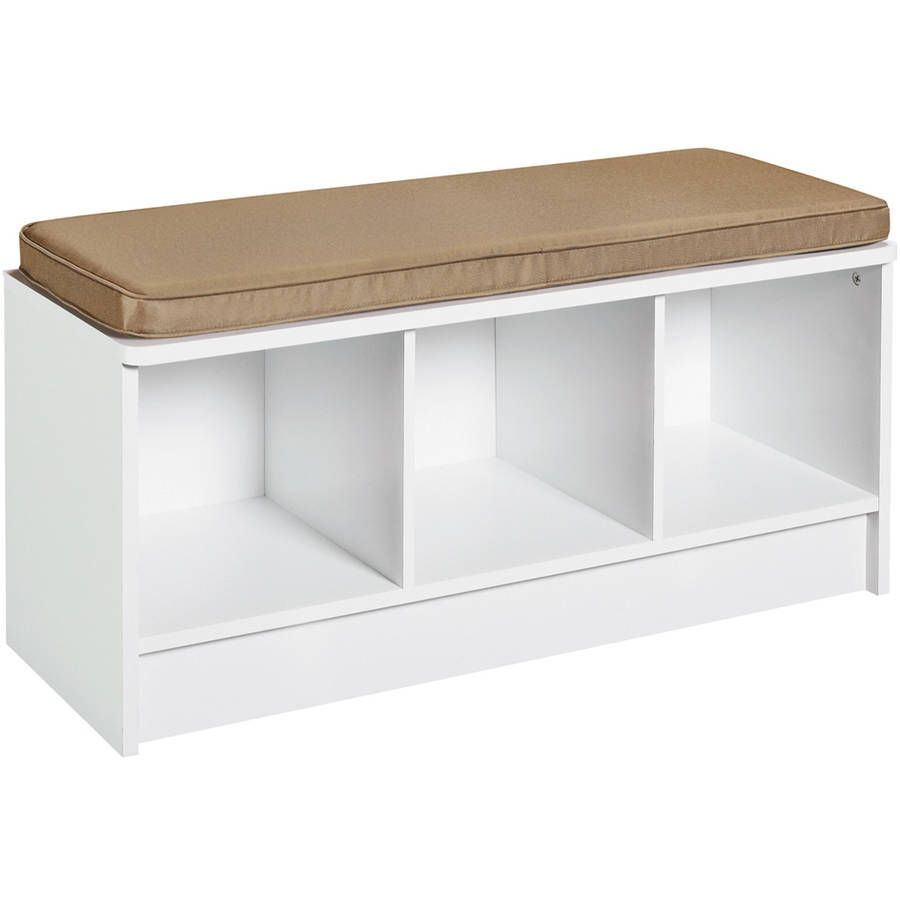 ClosetMaid 3-Cube Bench, White
