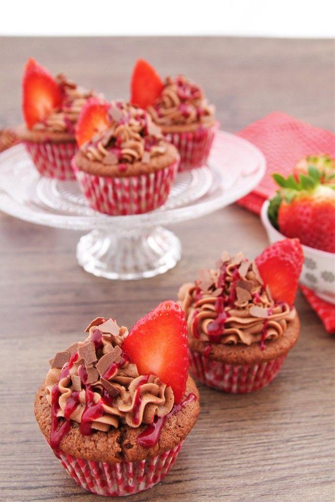 Nutella-Erdbeer-Cupcakes - C&B with Andrea
