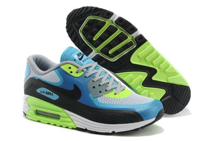 Nike Air Max Lunar90 Australia Womens Trainers Blue Green Sale Online