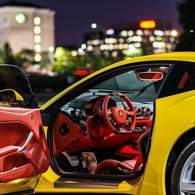 Ferrari Interior: Ferrari Yellow With Red And Black Interior (With Images