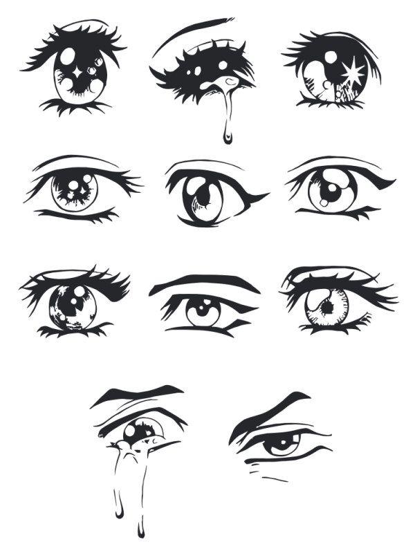 Hand Drawn Eye Vector Material Vectors Free Download Eyes Drawing Tumblr Eye Drawing Drawing Anime Hands