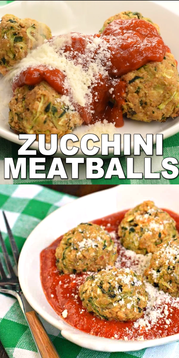 You'll love these meatless, easy, healthy, vegetarian Zucchini Meatballs for a delicious dinner! Serve them up with your favorite pasta sauce and noodles for a dinner your friends and family will love! #vegetarian #meatballs #zucchini #healthy #lightenup #dinnerrecipes #weightwatchers