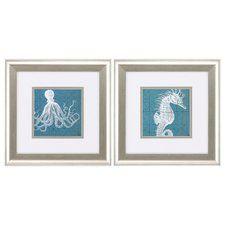 Creatures 2 Piece Framed Graphic Art Set