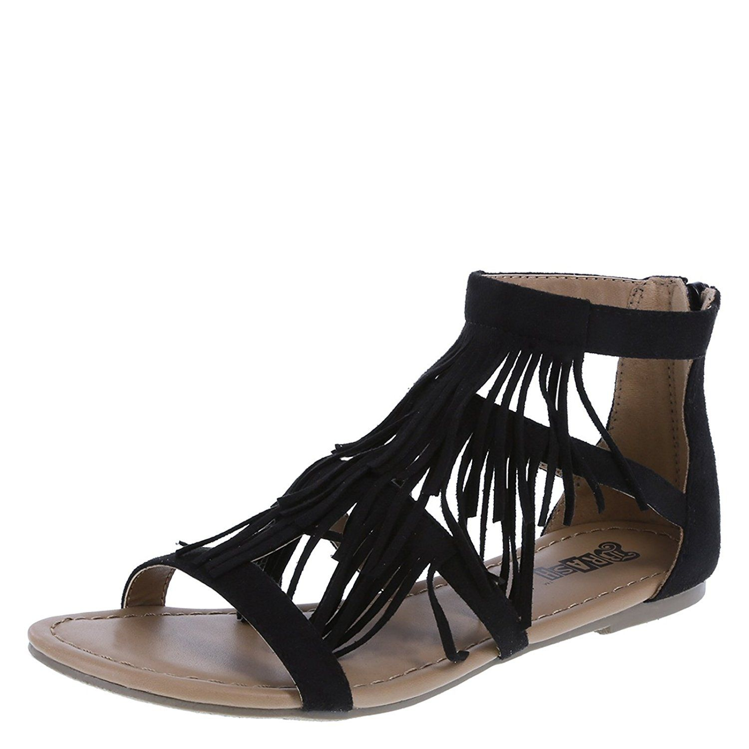 8fdf540573ae Brash Women s Tex Fringe Gladiator Flat     Additional details found at the  image link   Gladiator sandals