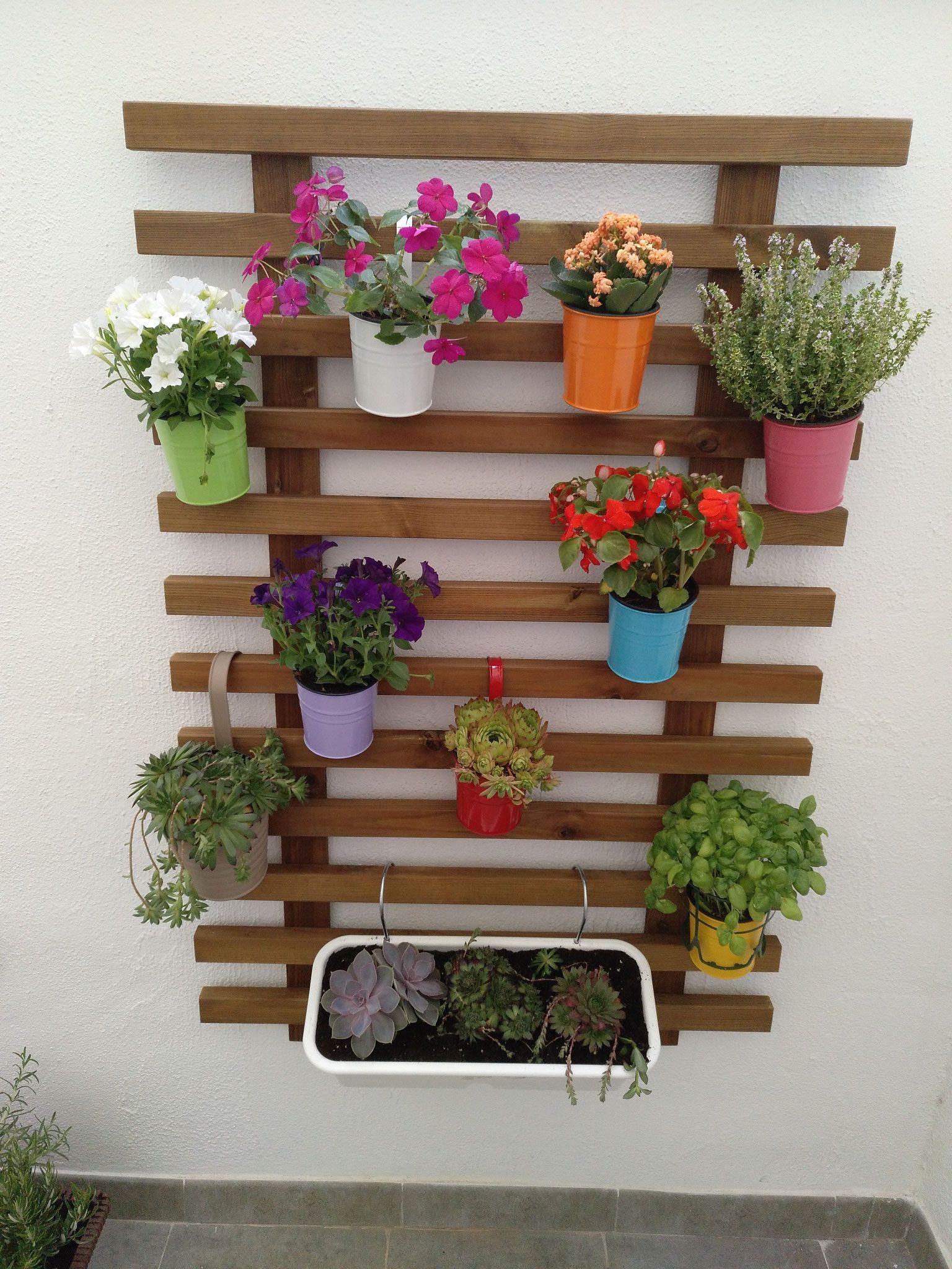 13 Jardineras de madera para pared