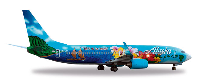 "1/500 Herpa Alaska Airlines ""Spirit of the Islands"" Boeing"