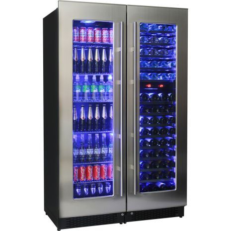 Wine And Beer Upright Bar Fridge Combination Bar Fridges Beer Fridge Beer And Wine Refrigerators