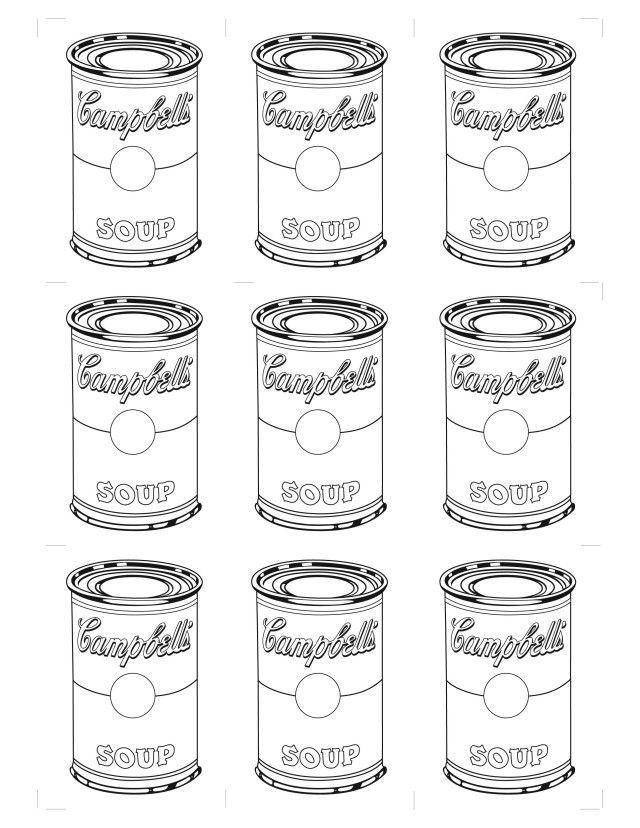 Image result for cuadros de andy warhol para colorear | Andy Warhol ...