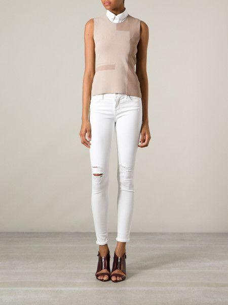 bigchipz.com white-distressed-skinny-jeans-23 #skinnyjeans | Jeans ...