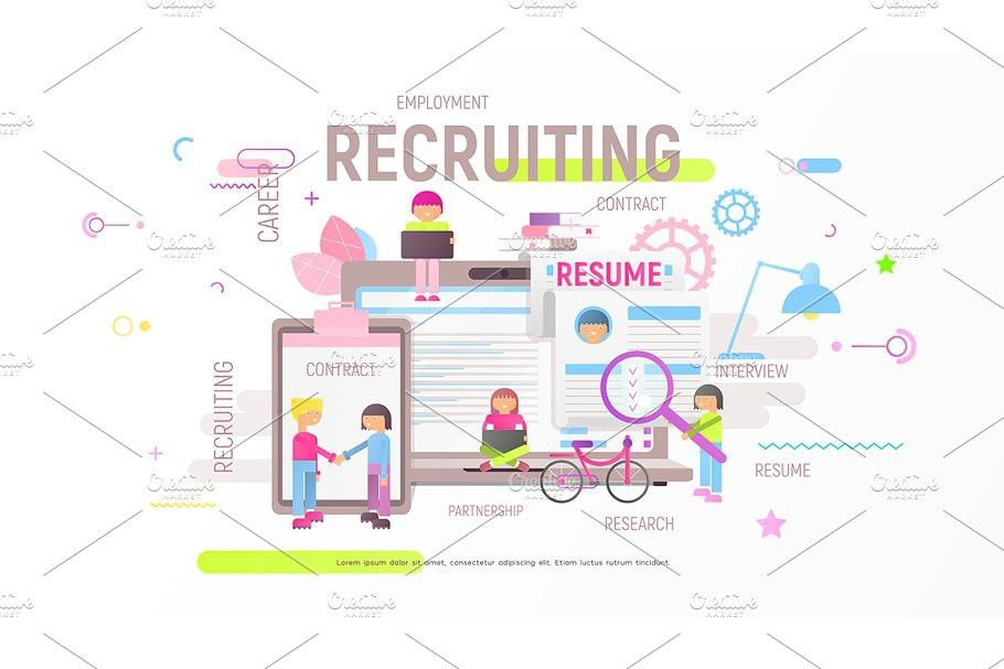 Recruitment Agency Banner in 2020 Mobile app