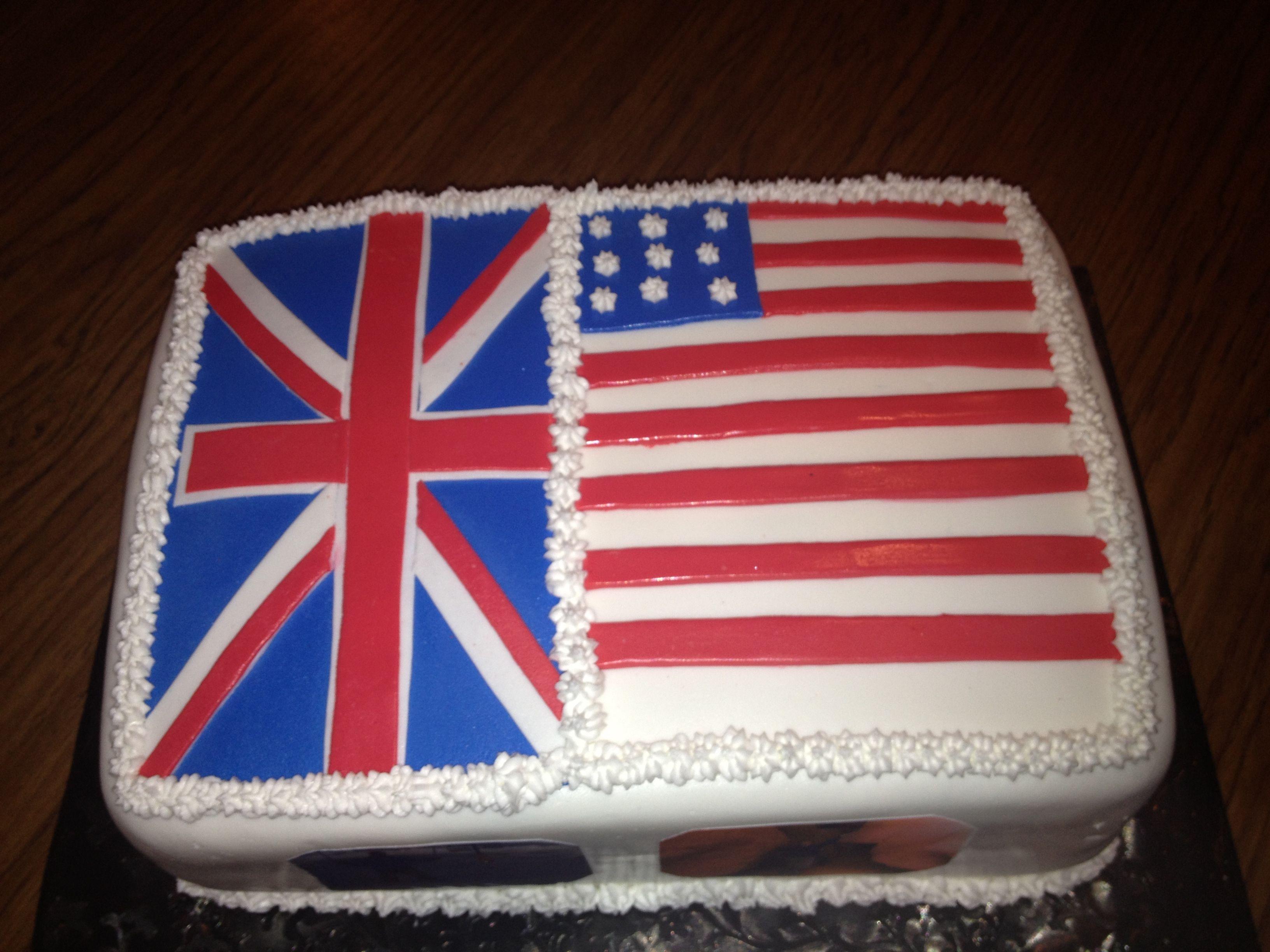 british and american flag birthday cake my cakes pinterest