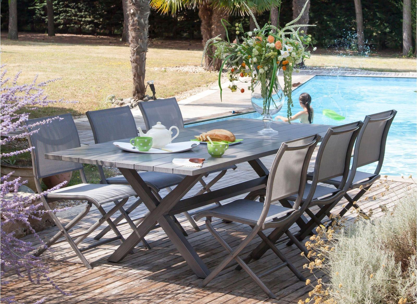 Table Crossway 240 cm | Mobilier extérieur | Mobilier jardin ...