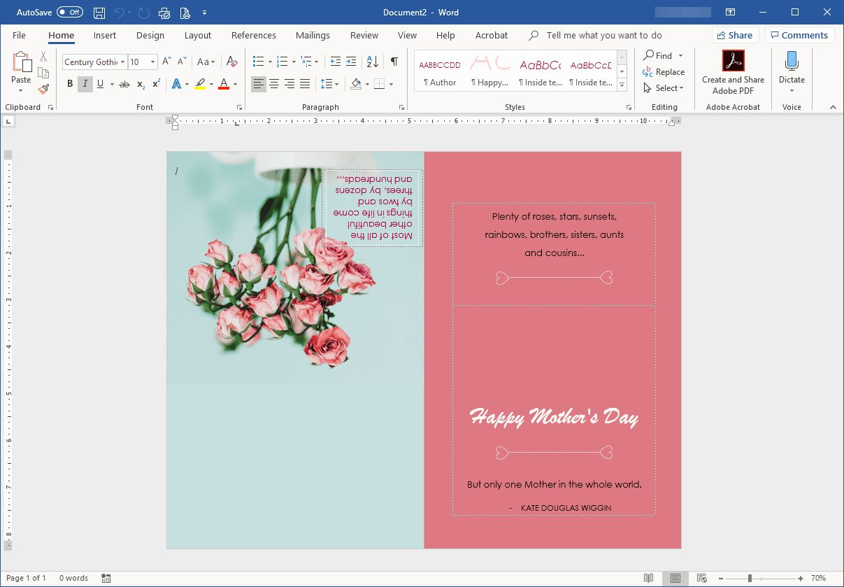 Ms Word Birthday Card Template Best Of Mother S Day Templates For Microsoft Fice Postcard Template Birthday Card Template Wedding Itinerary Template