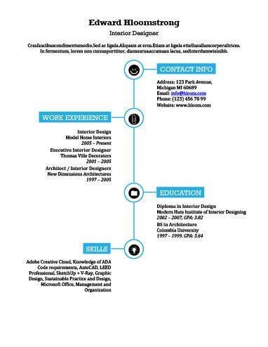 Combination by Hloom resume templates Pinterest Sample - sample of architectural intern design resume
