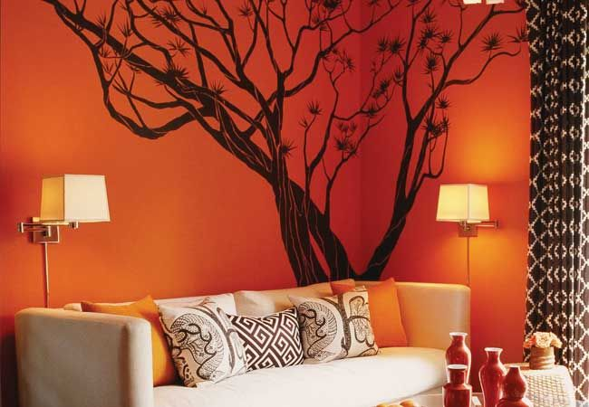 Quot Dressing Quot Your Walls Orange Decor