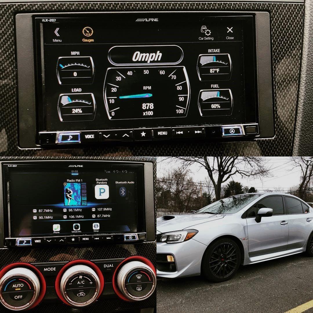 Check out this 2015 Subaru WRX STI with an Alpine ILX-207