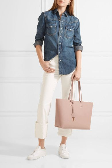 448764ab939 Saint Laurent - Shopping large textured-leather tote   Fashion ...