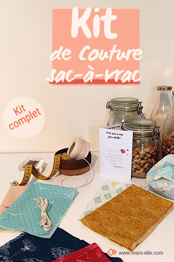 Kit couture complet Sac à vrac (tissu bio) | Sac à vrac