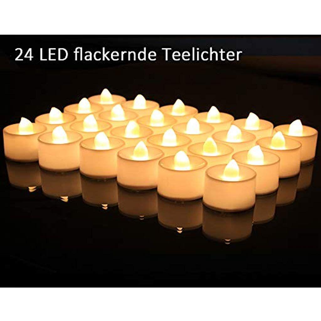 Baonuor 24 Led Teelichter Flackernde Led Kerzen Flammenlose