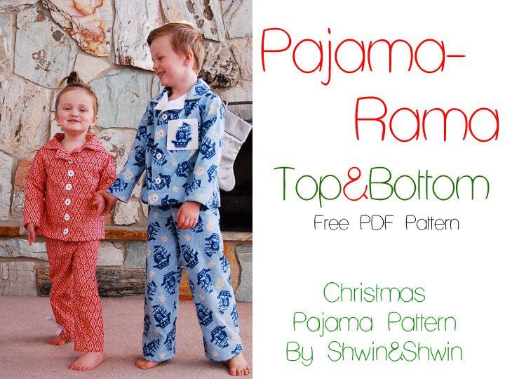 Pajama Rama! Christmas Pajamas {Free PDF Pattern} thỏ Pinterest