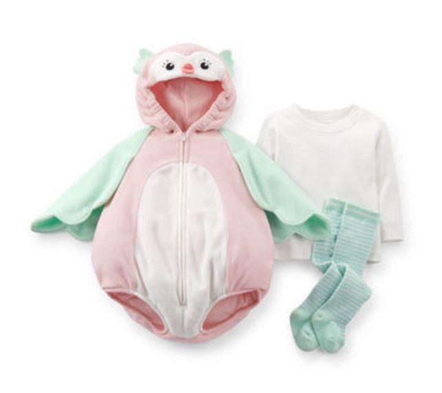 Carters Newborn 3 6 9 12 18 24 Months Owl Halloween Costume Baby ...