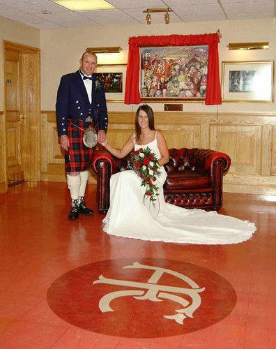 Exchange vows at Aberdeen Football Club, it's a sporting fans' dream wedding venue in Aberdeen, Grampian!