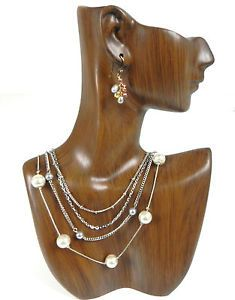 Jewelry Display Mannequins Vintage Mannequin Necklace Pendant Earring Stand Bust