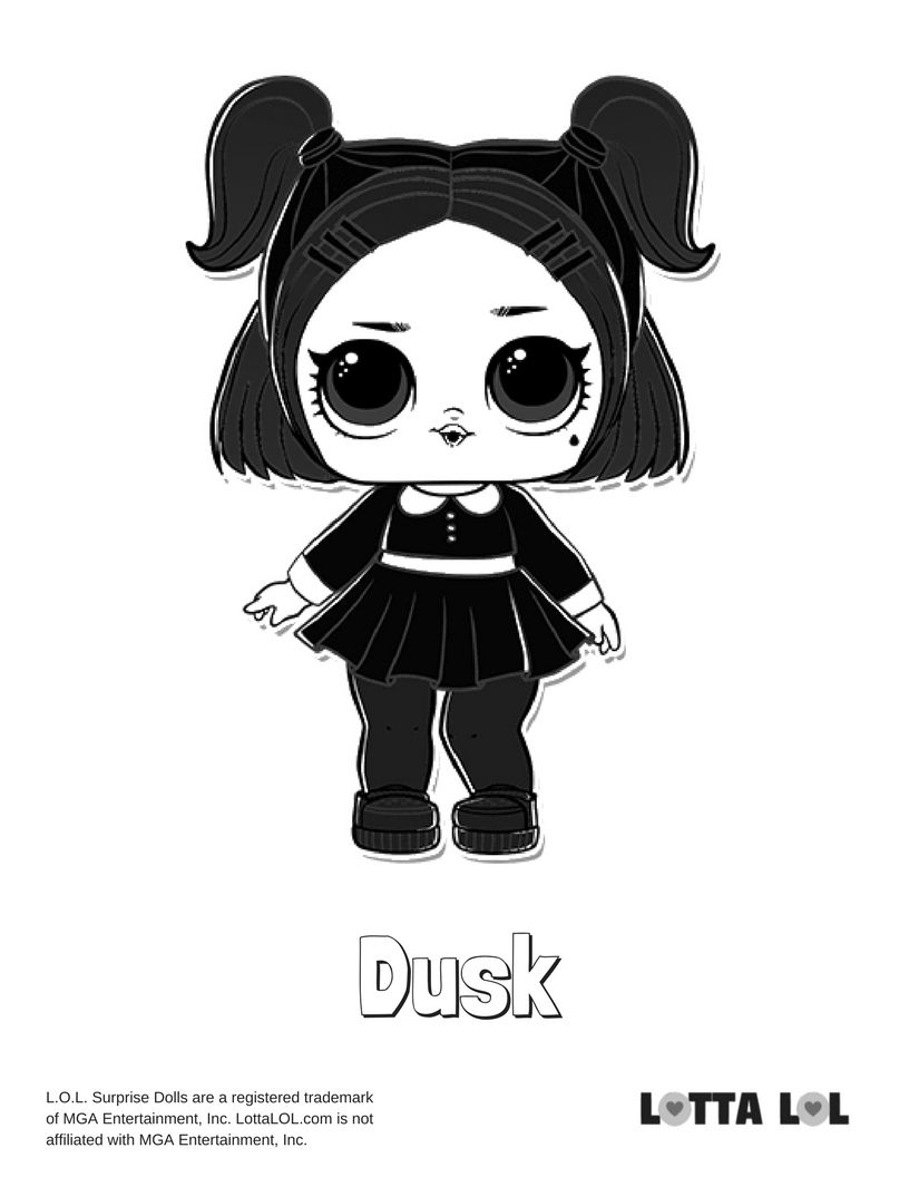 Dusk Coloring Page Lotta Lol Lol Dolls Coloring Pages Animal Coloring Pages