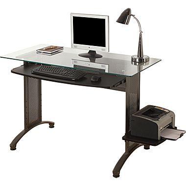 ergocraft titan glass top computer desk - Glass Top Computer Desk