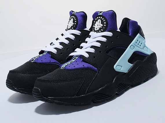4f8a4085e612 Nike WMNS Air Huarache - Black - White - Purple - SneakerNews.com ...